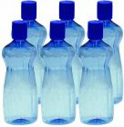 Fridge Bottle Liquid tight and spill proof (Capacity: 500ml) (Color: Blue) (Pack of 6)