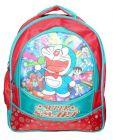 BAGO Fabric Doraemon School Bag For Girl's & Kid's (Multi-Color) (Pack of 1)
