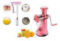 Multipurpose Fruit Juicer Vegetable Juicer Plastic Hand Juice Hand Blender (Combo Pack of 2)