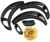 Homeoculture Hair Rose Clips and Bumpits Hair Puff Maker Combo For Women And Girls Hair Styling Tools (Pack of 5)