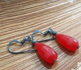 Astrogemsindia Natural and Fashionable 92.5 Sterling Silver Red Gemstone Earring for Women & Girls