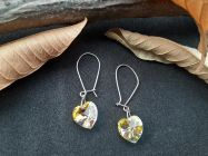 Astrogemsindia Natural and Fashionable 92.5 Sterling Silver Yellow Savaroski Earring for Women & Girls