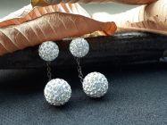 Astrogemsindia Trendy and Designer 92.5 Sterling Silver Round Stone Jhumki Earring For Women & Girls