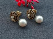 Astrogemsindia Natural and Amazing 92.5 Sterling Silver White Pearl Gemstone Earrings for Women and Girls