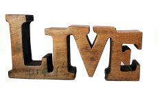 "Woodcraft Solid Wooden ""Live"" Alphabate Showpeace & Decorative vh9 (Transparent)"