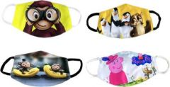 GOOFFI 5 Fashionable & Printed Cloth Mask (Pack of 4)