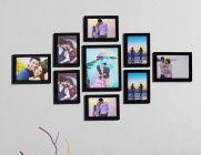 LION CRAFT Photo Frame Set of 9 Frames (Size- 8X10-1,6X8-2,5X7-6 PIC) Premium