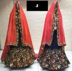 Jashikthaindustries Fashionable Beautiful Lehenga Choli For Women's (Blouse & Inner Fabric: Butter Crape)
