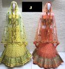 Jashikthaindustries Stylish & Beautiful Lehenga Choli | Butter Crape Fabric For Women's (Pack Of 1)