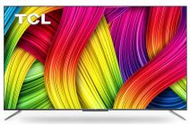 TCL 138.7 cm 55C715 2020 Model 4K Ultra HD Certified Android Smart QLED TV with Hands- Free Voice Control to Your TV   4K Quantum DOT   Dolby Audio and DTS   HDR 10+   Magic Connect   Google Play Store (55 inches, Metallic Black)