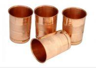 Aquiriosindia Essential for Kitchen Purpose Pure Drinking Copper Glass (Pack of 4)