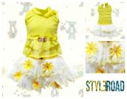 Styleroad Floral Top & Skirt Set of Cotton Blend Fabric Best for Girls (Multicolor) (Pack of 1)