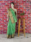 WACA Voguish, Stylish & Fashionable Silk Saree with Zari Border Embroidered with Fine Chikankari Which Comes Inclusive of a Blouse Piece for Women (Pack of 1) | (Color: Green)