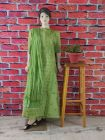 WACA Fashionable & Trendy 100% Cotton Suit Piece With Chikankari Embroidery with Chiffon Dupatta with a Cirosia Border for Women's (Pack of 1)   (Color: Green)