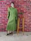 WACA Fashionable & Trendy 100% Cotton Pre-stitched Anarkali With Chikankari Embroidery with it Comes a Chiffon Dupatta with Chikankari work & a Cirosia Border for Women's (Color: Green)