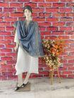 WACA Stylish & Modish Bhagalpuri Silk Cloth Dupatta with Chikankari Work with a Zari Border for Women's (Pack of 1) | (Color: Grey)