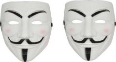 PTCMART Halloween Mask Party Mask(White, Pack of 2)