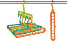 Easy Hang Drees 360 Degrees Rotatable Plastic Cloth Hook Hanger (Multi-Color) (Pack of 2)