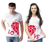 You Make Me Complete Couple Men's & Women's Cotton Graphic Printed Regular Fit T-Shirts (Pack of 2)