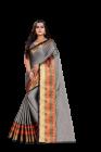 Bagrecha Creation Heer Mix Cotton Fabric Saree with Bangalore Silk Fabric Blouse (Saree: 5.5 MTR) (Blouse: 1 MTR)