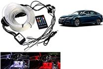 After Cars Honda Civic Old Car Dashboard Interior Light with Optic Fiber Cable, EL Neon Strip Light (RGB color)