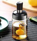 CYALERVA Seasoning Honey Borosilicate Glass Jar With Lid (300 ml)