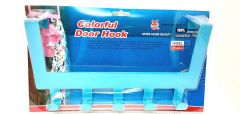New Multinational Over The Door 8 Stainless Steel Hanging Rack For Towel & Coat Hanger (Blue)