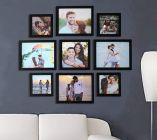 LION CRAFT Collage Photo Frames, Set of 9, Wall Hanging (6x8-4,6x6-1,5x5-4 Size= inch) Black