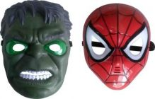 PTCMART Hulk And Spiderman Shape Design Face Mask For Party Mask(Pack of 2)