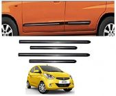 After Cars Hyundai Eon Car Black Side Beading with Chrome Line Set of 4