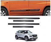 After Cars Hyundai Venue Car Black Side Beading with Chrome Line Set of 4