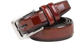 Winsome Deal Artificial Leather Stylish Casual Belt's for Men's (Brown)