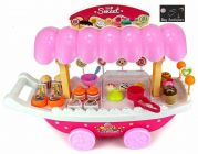 Ice Cream Play Cart Kitchen Set Toy With Lights And Music (Pack Of 1)