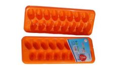 RFL Plastic Ice Cube Tray For Kitchen (Orange) (Pack of 2)