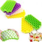 Cyalerva Flexible Honeycomb Design Ice Cube Trays For Freezer(Pack of 2)