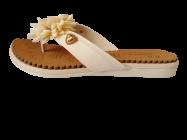 Footshine Women's Fashion & Stylish Pad Slipper (Golden)