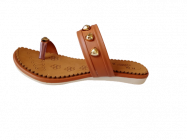 Footshine Women's Fashion & Stylish Pad Slipper (Brown)