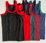 Comfort, Durability & Regular Fit Pure Cotton Sleeveless GYM Vest RN Innerwear For Men's (Multi-Color) (Pack of 5)