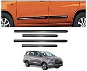 After Cars Innova Crysta Car Black Side Beading with Chrome Line Set of 4
