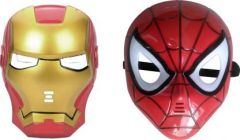 PTCMART Ironman And SpiderMan Shape Design Face Mask For Kids, Party And Play Role Party Mask(Pack of 2)