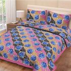Fabric Empire King Size Bedsheet and 2 Cushion Cover Jaipuri Print of Cotton Fabric (Pack of 3)