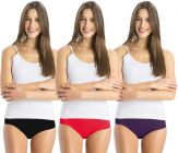 Solid Women & Girls Cotton High-Rise Hipster Panty (Pack of 3)