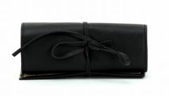 ASPENLEATHER Designer Leather Jewellery Bag For Women (Black)