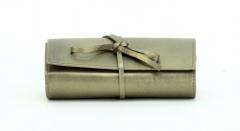 ASPENLEATHER Roll Designer Leather Jewellery Bag For Women (Green)