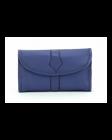 ASPENLEATHER Roll Designer Leather Jewellery Bag For Women (Blue)