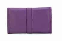 ASPENLEATHER Roll Designer Leather Jewellery Bag For Women (Purple)