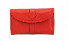 Splash USA Designer Leather Jewellery Bag For Women (Red)