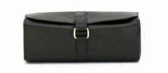 ASPENLEATHER Designer Leather Jewellery fashion Bag For Women (Black)