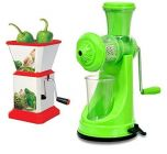 Juice Maker with Handle and Chilly Cutter Combo (Multicolour)