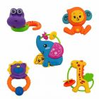 Rattle Series Jungle Dost, Animal Rattles Toys For Kids,(Non Toxic) (Pack Of 5Pcs)
